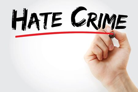 Hate Crime text with marker, concept background