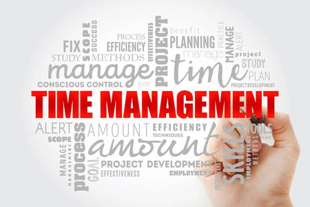 Time Management word cloud collage, business concept background
