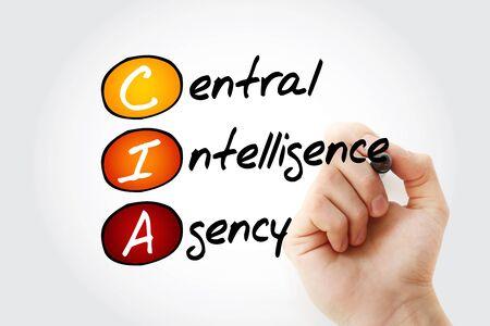 CIA - Central Intelligence Agency acronym, concept background Banco de Imagens