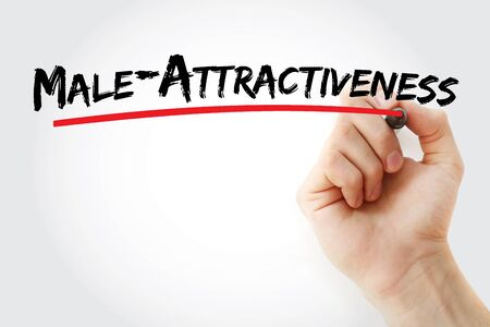 Male-Attractiveness text with marker, concept background Stock Photo