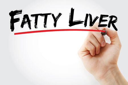Fatty liver text with marker, concept background