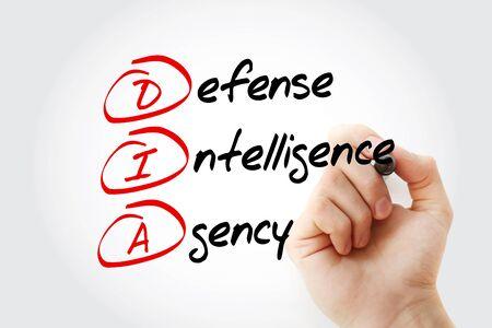 DIA - Defense Intelligence Agency acronym, concept background Banco de Imagens