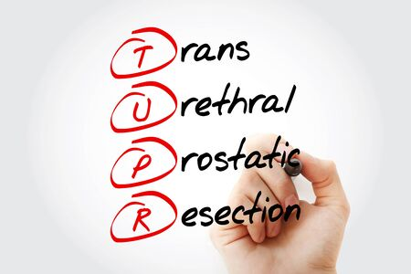 TUPR - Trans Urethral Prostatic Resection acronym, medical concept background
