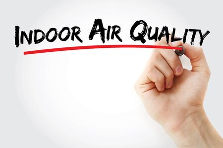 indoor air quality text with marker, concept background
