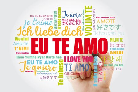 Eu Te Amo (I Love You in Portuguese) in different languages of the world