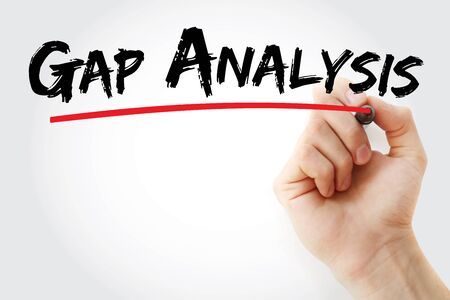 Gap Analysis text with marker, concept background