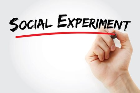 Social Experiment text with marker, concept background