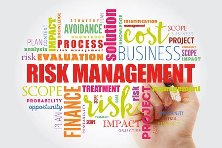 Risk Management word cloud collage, business concept background Zdjęcie Seryjne