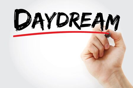 Daydream text with marker, concept background