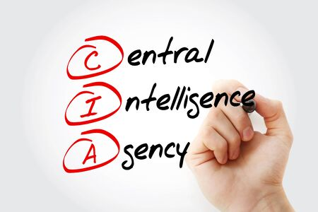 CIA - Central Intelligence Agency acronym, concept background Banco de Imagens