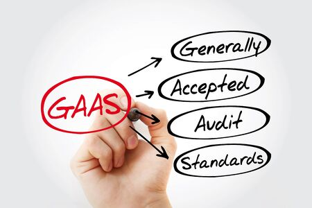 Hand writing GAAS - Generally Accepted Audit Standards with marker, acronym business concept Zdjęcie Seryjne