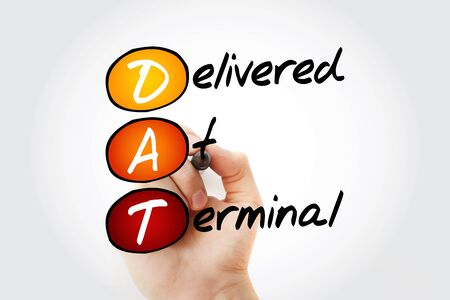 DAT, Delivered at Terminal acronym, business concept background