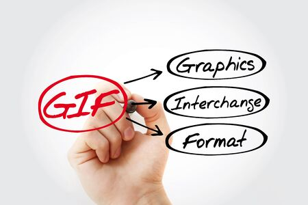GIF - Graphics Interchange Format acronym, concept background
