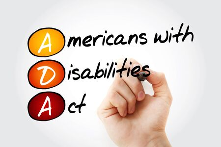 ADA - Americans with Disabilities Act acronym, business concept background