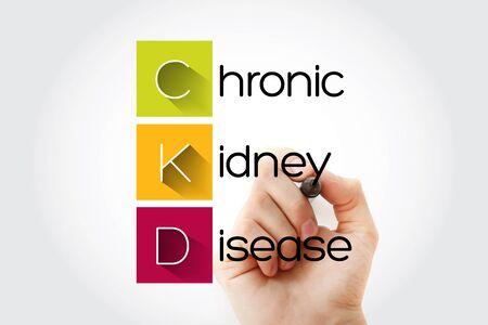 CKD - Chronic Kidney Disease acronym, health concept background Stock Photo