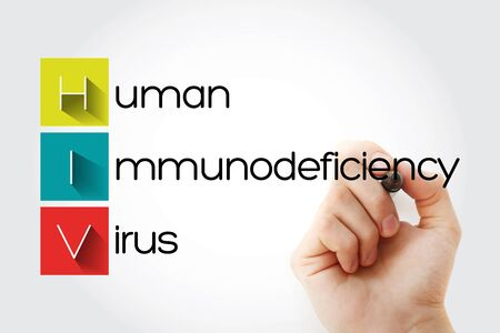 HIV - Human Immunodeficiency Virus acronym with marker, health concept background