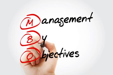 MBO - Management By Objectives acronym, business concept background
