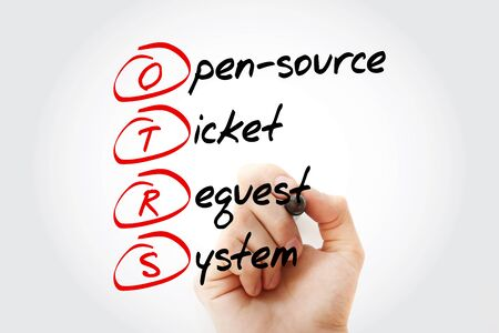 OTRS - Open-Source Ticket Request System acronym, business concept background