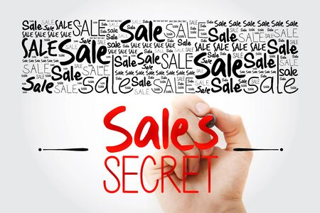 Sales Secret word cloud collage, business concept background 스톡 콘텐츠 - 140035338