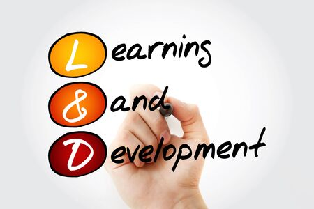 L and D, Learning and Development acronym, business concept background Reklamní fotografie
