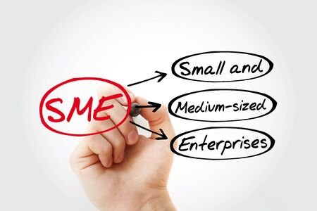 SME - Small And Medium-sized Enterprises acronym, business concept background