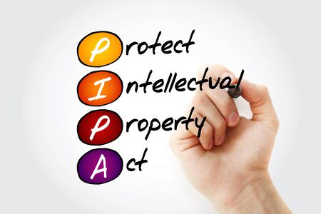 PIPA - Protect Intellectual Property Act acronym, concept background