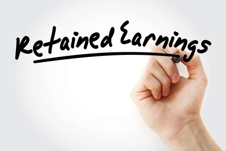 RE - Retained Earnings acronym, business concept background