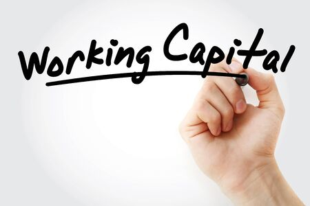 WC - Working Capital acronym, business concept background