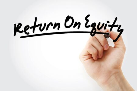 ROE - Return On Equity acronym, business concept background