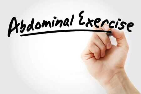 Abdominal Exercise text with marker, concept background
