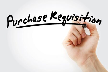 PR - Purchase Requisition acronym, business concept background