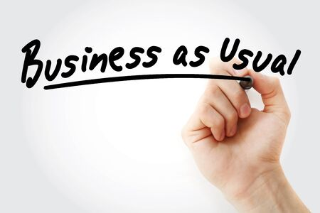 BAU - Business as Usual acronym, business concept background Stock fotó