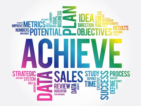 Achieve word cloud collage, business concept background