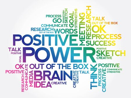 POWER word cloud collage, creative business concept background Ilustracja