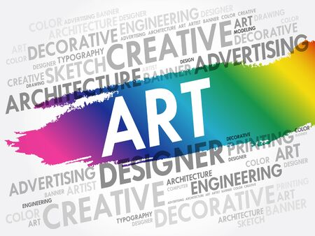 ART word cloud, creative business concept background
