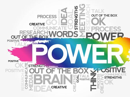 POWER word cloud collage, creative business concept background Illustration