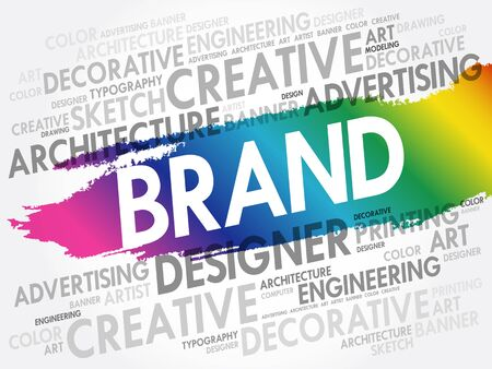 BRAND word cloud, creative business concept background