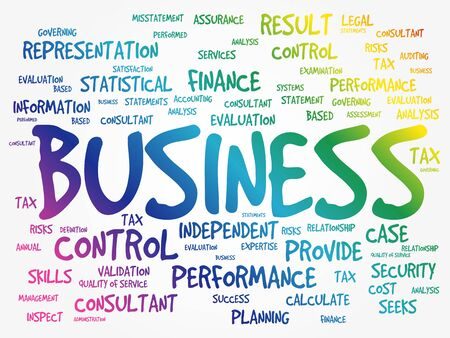 Business word cloud concept background