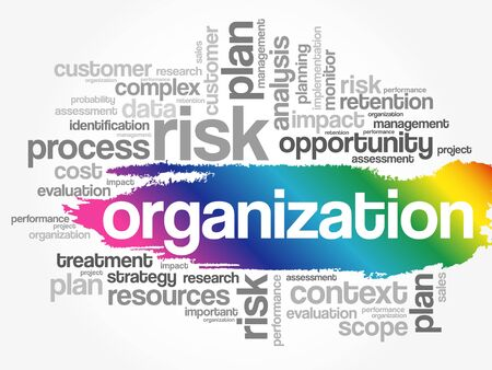 Organization word cloud collage, business concept