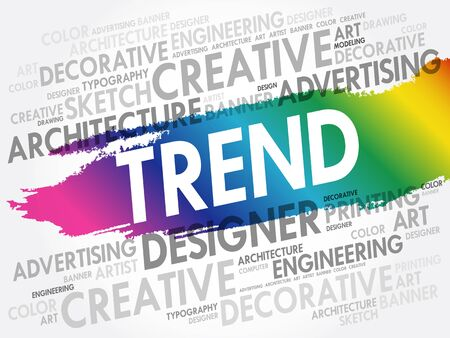 TREND word cloud, creative business concept background
