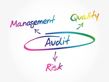 Several possible outcomes of performing an AUDIT, concept diagram, business concept mind map