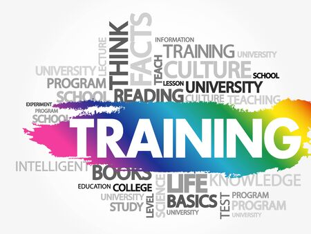 TRAINING word cloud, business concept 向量圖像