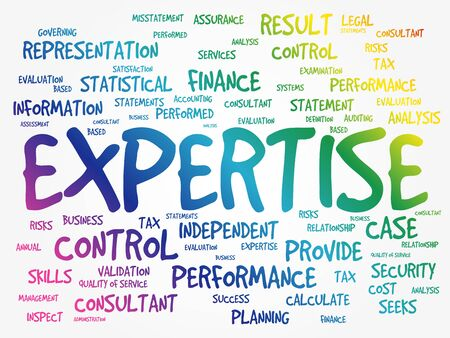 EXPERTISE word cloud collage, business concept background