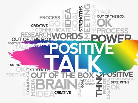 POSITIVE TALK word cloud collage, business concept