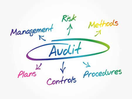Audit mindmap process, business concept background