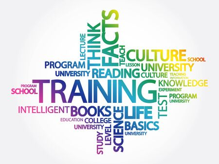 Training Word Cloud Concept with great terms such as classroom, education, trade, vocational, knowledge, required, test