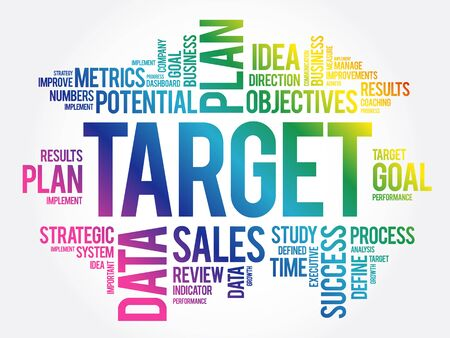 TARGET word cloud collage, business concept background Ilustracja