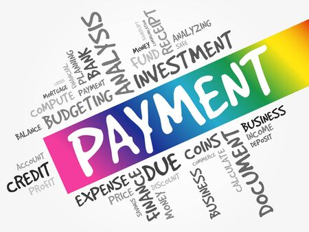 PAYMENT word cloud collage, business concept background 일러스트