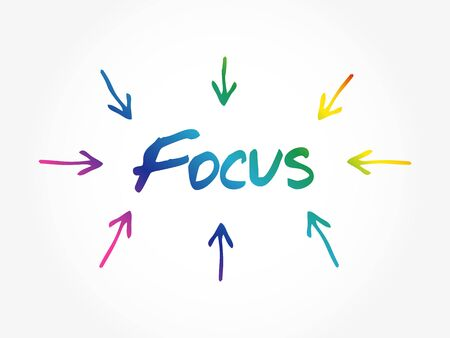 Focus arrows directions, business concept background 矢量图像