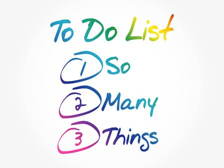 So Many Things in To Do List, business concept background